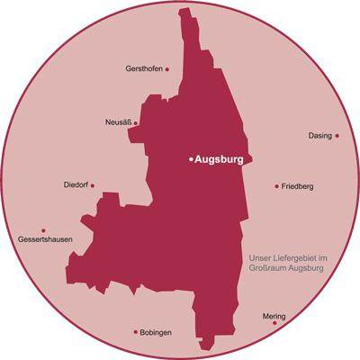 Stadtgebiet Augsburg